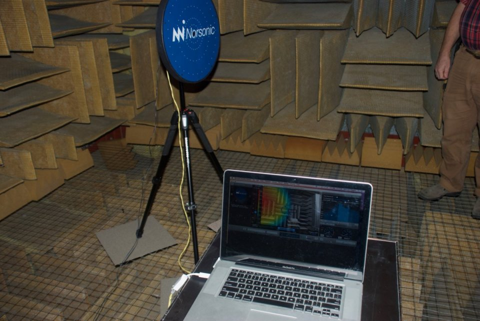 Orfield Acoustic Camera in Anechoic Chamber